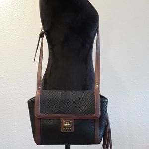 Classic Black Leather Shoulder Bag - Isaac Mizrahi